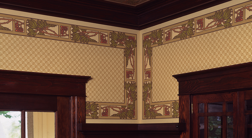 Craftsman style wallpaper arts crafts movement for Arts and crafts style