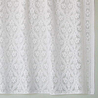 Victorian Cotton Lace Curtains Brownstone Lace Panel