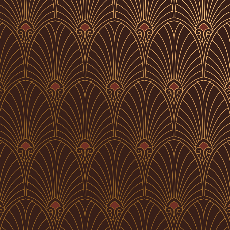 bradbury art deco designs havana wallpaper in mahogany