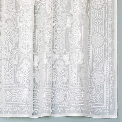 Vintage Victorian Cotton Lace Curtains Eastlake Panel
