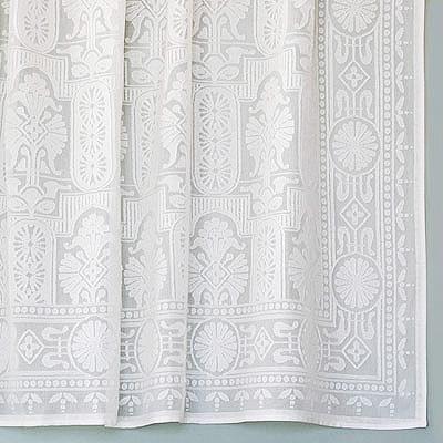 Vintage Victorian Cotton Lace Curtains Eastlake Panel