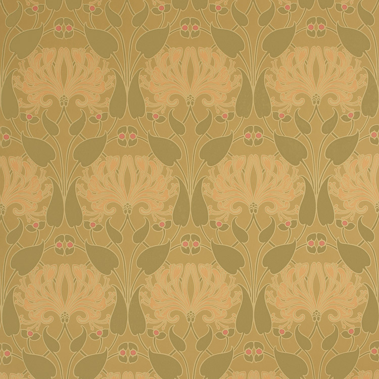 bradbury craftsman style floral wallpaper honeysuckle