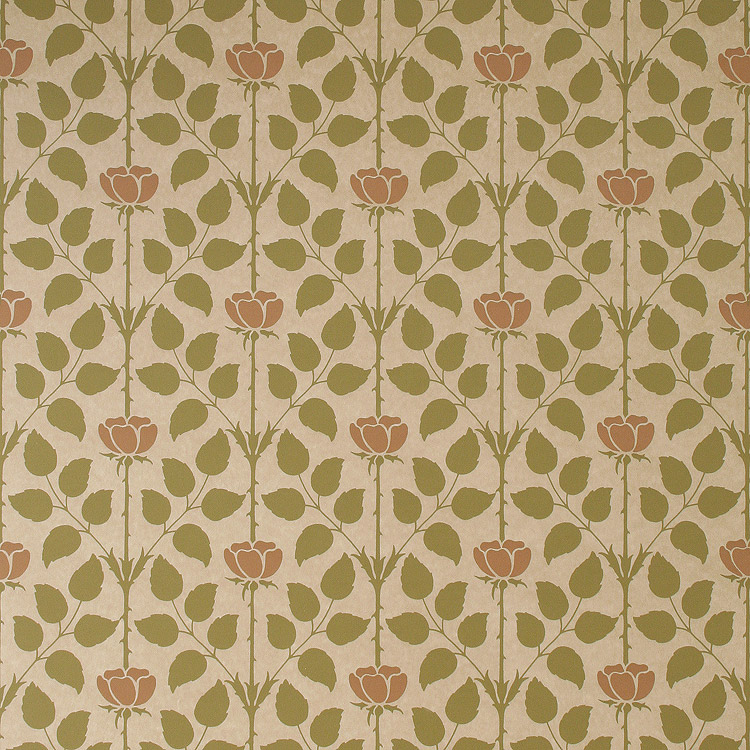 rose floral wallpaper in natural bradbury arts and