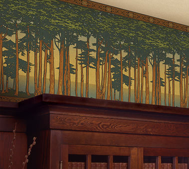 craftsman style friezes landscape wallpapers bradbury