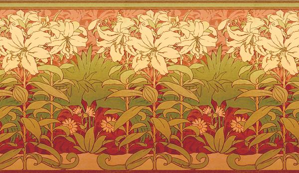 Arts & Crafts Floral Wallpaper