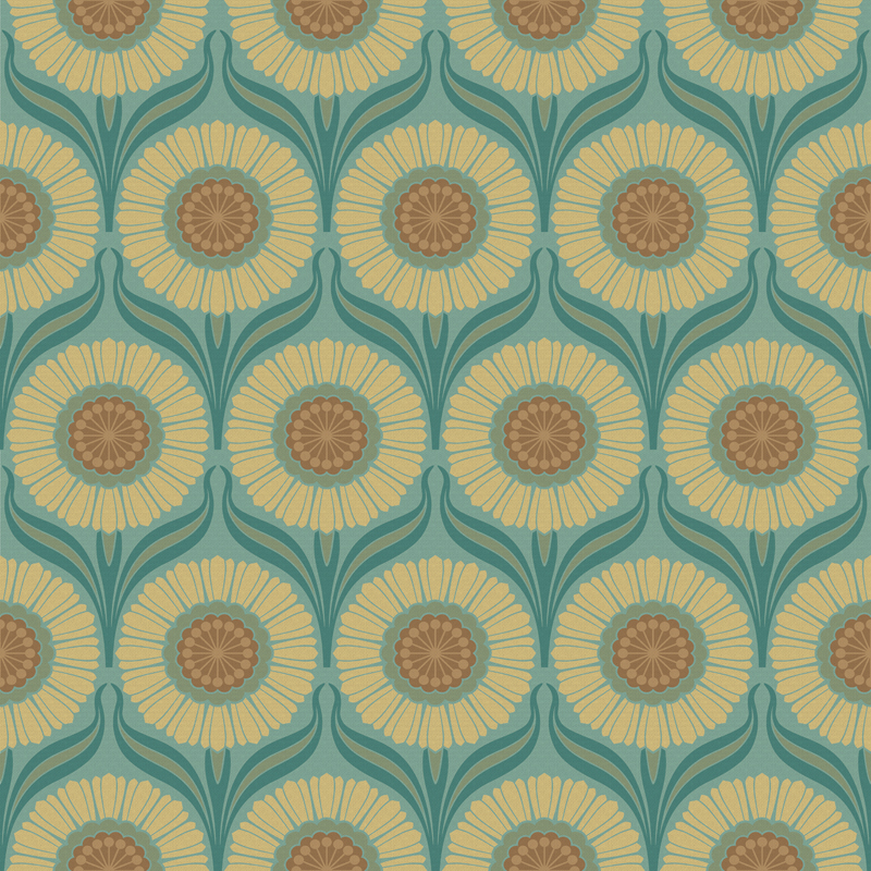 Retro Wallpaper 1960s Mod Art Design Bradbury Bradbury