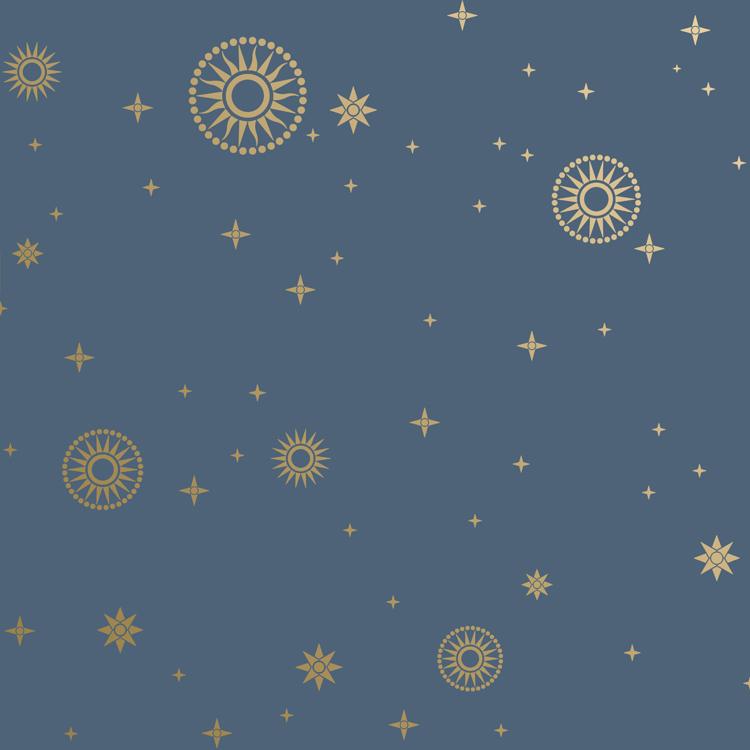 Stardust Art Deco Design Wallpaper In Midnight Bradbury