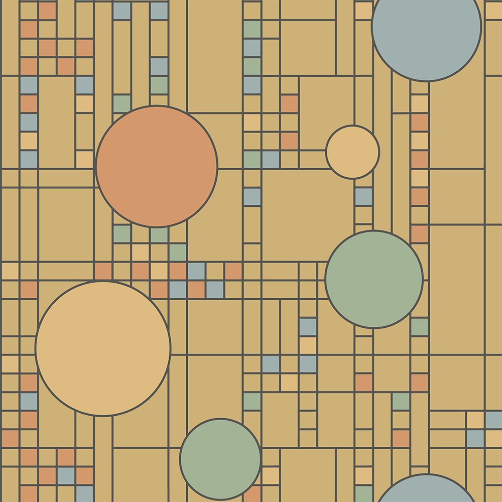 Frank lloyd wright design collection wallpaper spheres squared - Frank lloyd wright designs ...